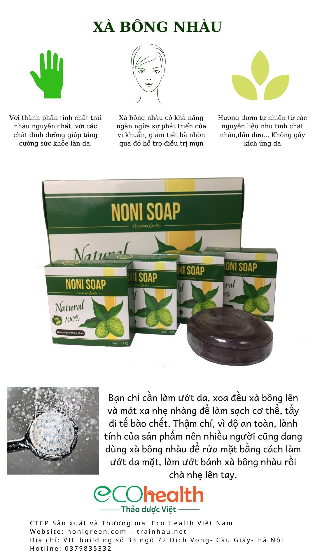 xà bông nhàu nonigreen
