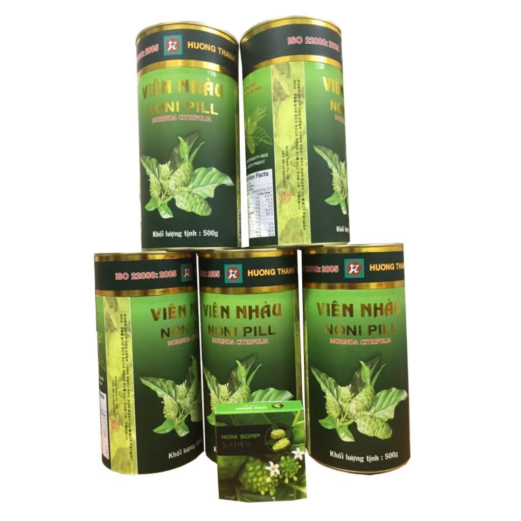 Combo 5 hộp viên nhàu mật ong 노니알 Hương Thanh