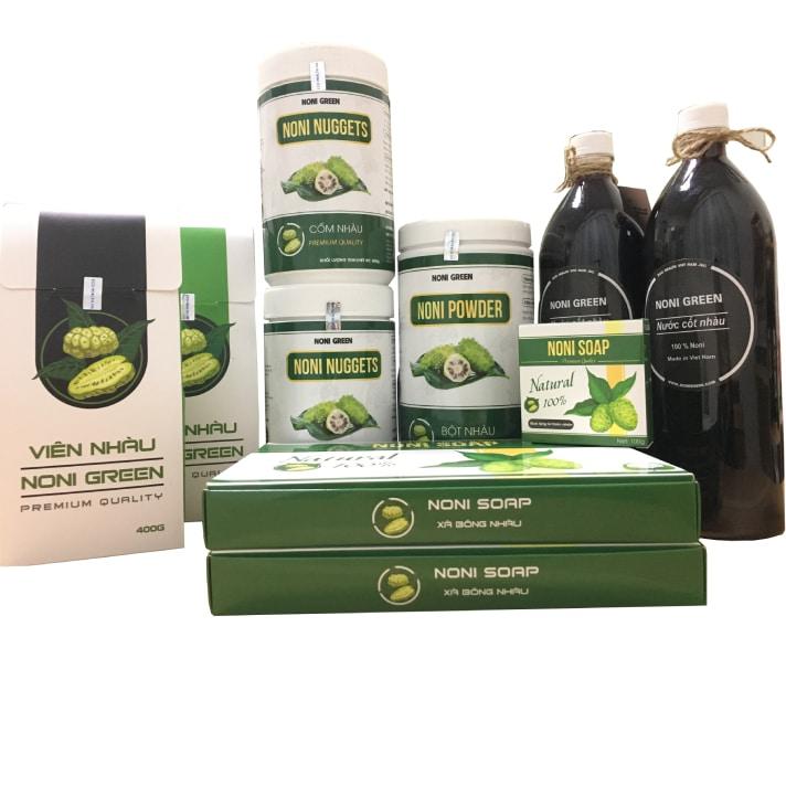 [Giảm Ngay 140k] Set quà tặng 5 món Noni Green - Sản Phẩm Từ Trái Nhàu