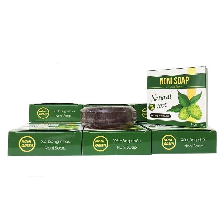 Hộp 6 Bánh Xà Bông Nhàu Noni Green - Organic Noni Soap